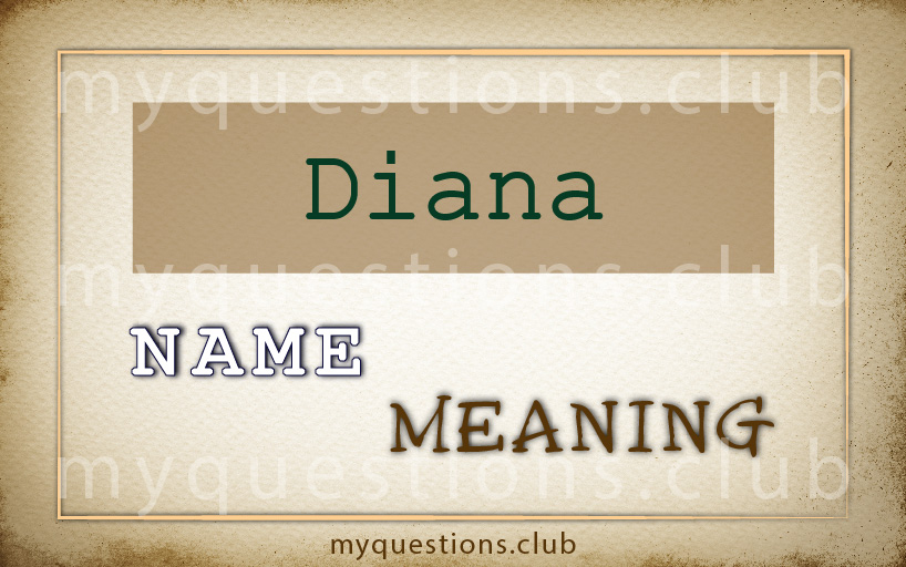 DIANA NAME MEANING