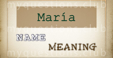 MARIA NAME MEANING