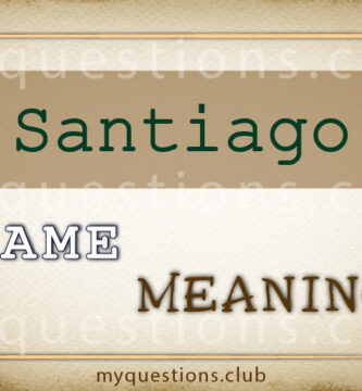 SANTIAGO NAME MEANING