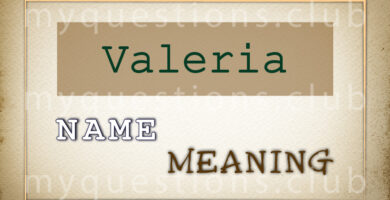 VALERIA NAME MEANING