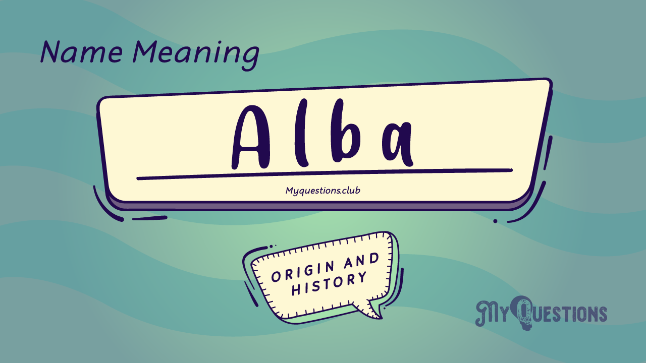 ALBA NAME MEANING