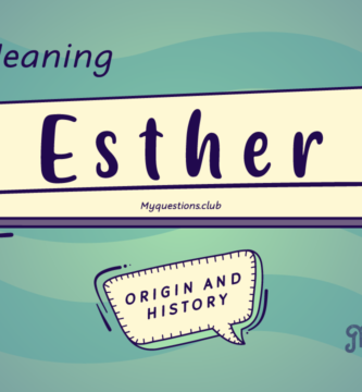 ESTHER NAME MEANING